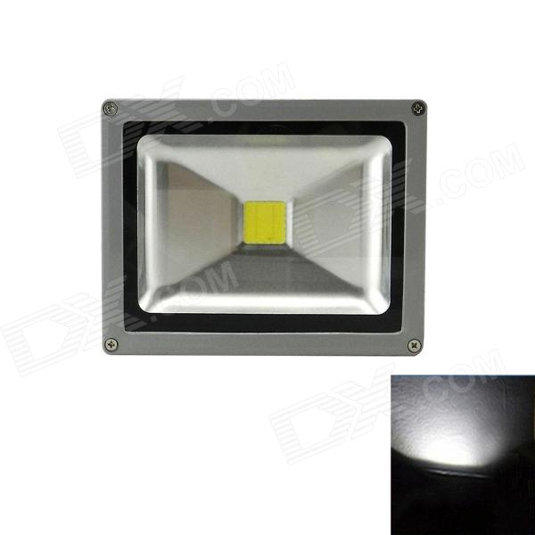 Waterproof Square 20W 1600lm 6500K LED White Light Outdoor Floodlight Lamp - (85~265V)