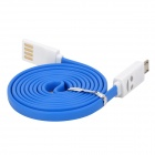 USB to Micro USB Data/Charging Cable w/ Smiley Face Light for Samsung Galaxy S4 i9500 - Blue