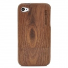 GEEKCOOK Retro Black Walnut Protective Separated Wooden Back Case for Iphone 4 / 4S - Brown