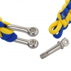 Emergency Escape Quick-Release Hand Rope - Yellow + Blue