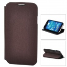 Stylish Protective PU Leather Case for Samsung Galaxy S4 i9500 - Red Brown