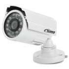 "Bessky BE-IRI42 Waterproof 1/3"" CCD 420TVL CCTV Camera w/ 24-LED IR Night Vision - White"