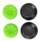 Replacement Plastic Rocker Cap + Nonslip Silicone Cap Set for XBOX360 - Green + Black