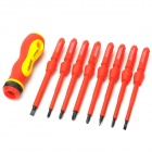 LODESTAR L107808 Multifunction 8-in-1 Screwdriver Set - Red + Black + Yellow