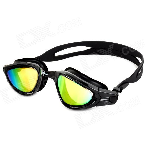 Sinca S988M Mirror-Coated PC Anti-fog Swimming Goggles - Black