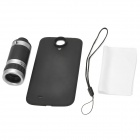 8X Magnification Telescope w/ Back Case for Samsung Galaxy S4 / i9500 - Black
