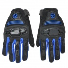 SCOYCO MC24 Shock Resistant Padded Full Finger Cycling Gloves - Blue + Black (Pair / Size M)