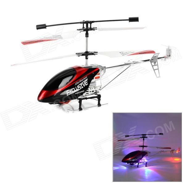 CX-MODEL 007 3.5CH Aluminium Alloy R/C Helicopter w/ Gyro + LED - Red + Black