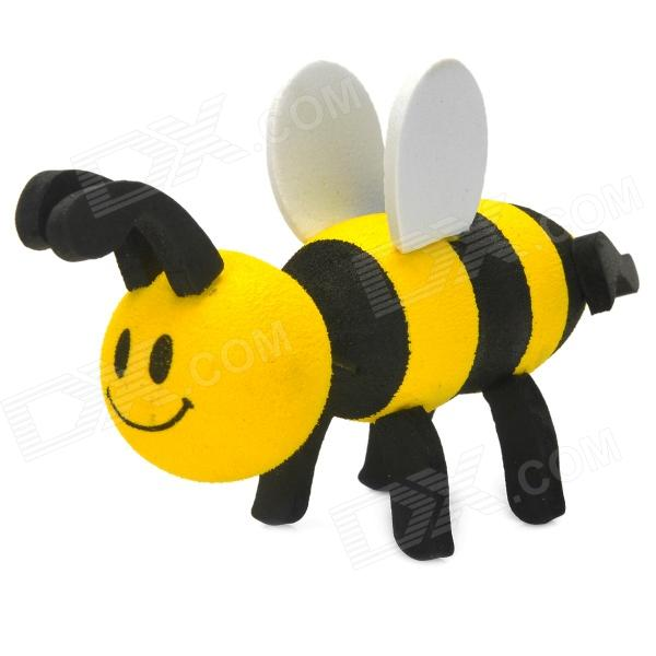 EVA Foam Honeybee Style Car Decoration Antenna Ball - Black + Yellow