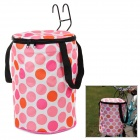 Bicycle Removable Folding Hanging Storage Basket Box - Pink