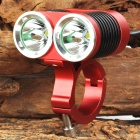 UltraFire MT-22A 2 x CREE XM-L U2 1200lm 4-Mode White Bicycle Light - Red + Black (4 x 18650)