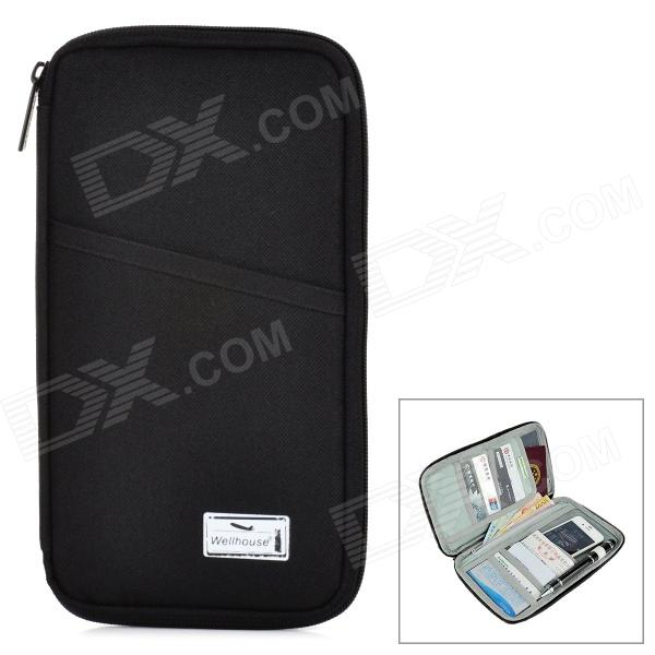 все цены на Wellhouse WH00335 Portable Zipper License Storage Bag - Black онлайн