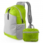 JOYTOUR Folding Water Resistant Double-Shoulder Bag Backpack - Green + Grey