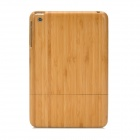 Stylish Protective Bamboo Back Case for Ipad MINI - Light Yellow