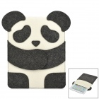 Cartoon Panda Style Protective Pouch Bag for Ipad 2 / 3 / 4 - White + Black