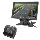 "7 ""TFT CMOS Wide Angle Rearview Camera Monitor Truck w / Night Vision - Black"