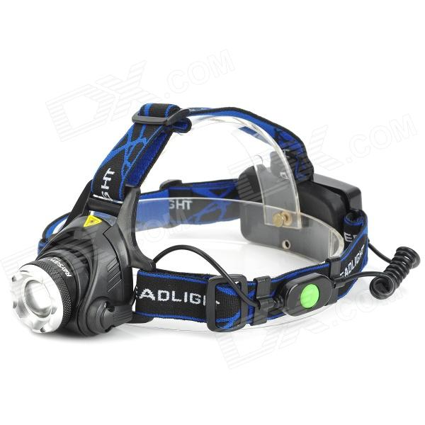 RAYSOON T283 600lm 3-Mode White Zooming Headlamp w/ Cree XM-L T6, Yellow Lens (1/2 x 18650) nitefire nfh 11 450lm 3 mode white headlamp w cree xm l t6 black silver 1 x 18650
