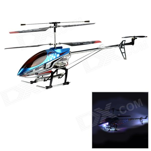 H.C.W 8501 3.5CH Aluminium Alloy R/C Helicopter w/ LED + Gyro - Blue + Red