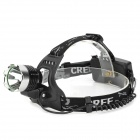 RAYSOON T183 Cree XM-L T6 600lm 3-Mode White Headlamp w/ Diffuser - Black + Silver (1 / 2 x 18650)