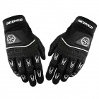 SCOYCO BG11 Outdoor Sports Cycling Full Fingers Gloves - Black + White (Size L)