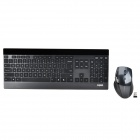Rapoo 8900P 5GHz Wireless Laser Keyboard + 1600dpi Mouse Combo - Black + Silver