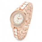 JW 1050JW-F269 Elegant Style Zinc Alloy Quartz Wrist Watch for Women - White + Golden (1 x AG4)