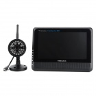 "Heacent DS04 2.4GHz Wireless 7"" TFT LCD 4-CH Digital DVR Security System - Black"
