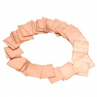 15*15*1mm Copper Graphics Thermal Pad / Cooling Pad - Golden (50PCS)