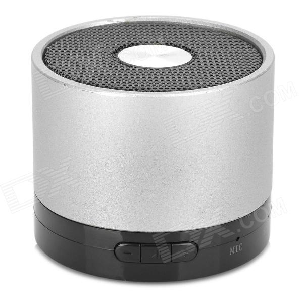 Y-LY Portable Bluetooth v4.0 2-Channel Bass Speaker w/ Microphone - Black + Silver