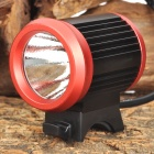 B15 CREE XM-L T6 600lm 4-Mode White Bicycle Light - Black + Red (4 x 18650)