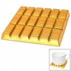 Creative Gold Bar Shaped Anti-slip Heat Insulation Mat / Pad for Dishware / Cup - Golden