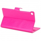 Protective PU leather Holder Case w/ Card Slots for Google Nexus 7 - Deep Pink + Grey