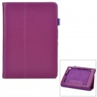 Lychee Pattern Protective PU Case w/ Stand for Acer A1 - Purple