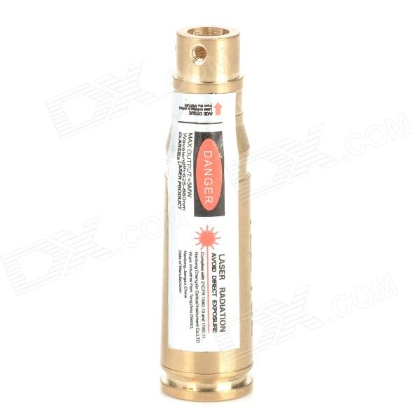 Brass Red Laser Bore Sighter for 7.62mm Caliber Gun - GoldenOther Accessories<br>BrandN/A ModelN/A Quantity1 piece(s) per packColorGolden MaterialBrass Suitable Gun TypeSuitable for gun of 7.62mm caliber SpecificationWavelength: 625~660nm; Power: Packing List1 x Bore sighter3 x LR41 batteries<br>