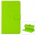 Protective PU leather Holder Case w/ Card Slots for Google Nexus 7 - Green + Grey