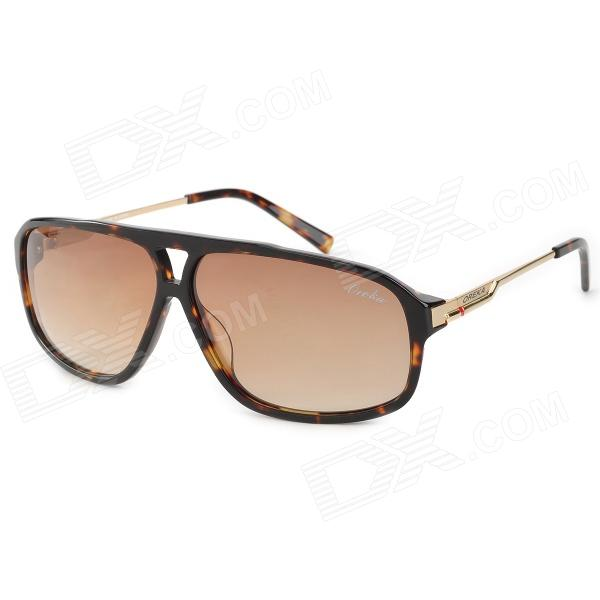 OREKA  WG006C2 Fashion UV400 Protection Resin Lens Sunglasses - Brown + Golden clip on uv400 protection resin lens attachment sunglasses small