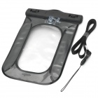 Protective Waterproof PVC Touch Case w/ Strap for Cellphone / MP3 / MP4 - Black