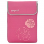 "Kingsons KS6156 Universal Rose Pattern Neoprene Sleeve Bag for 14.1"" Laptops - Pink"