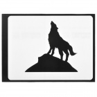 "Growling Wolf Style Decoration Sticker for Macbook 11"" / 13"" / 15"" / 17"" - Black"