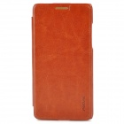 PUDINI Stylish Protective PU Leather Case for HTC 606W - Brown