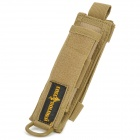 Free Soldier Outdoor Nylon MOLLE Water Bottle Flashlight Holster Carrying Bag - Coyote Tan