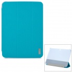 ROCK Ultra-thin PU + Plastic Case w/ Stand for Samsung Galaxy Tab 3 10.1 P5200 / P5210 - Sky Blue
