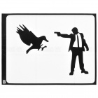 "PAG Man Aiming At Bird Style Decoration Sticker for Macbook 11"" / 13"" / 15"" - Black"