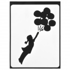 "PAG Girl & Balloon Style Decoration Sticker for Macbook 11"" / 13"" / 15"" - Black"