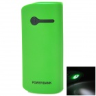 XY-M2 5V 4200mAh Li-ion Battery Power Bank w/ LED for iPhone / iPad  / MP3 + More - Green