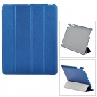 USAMS Ipad4XK03 Protective PU Leather + PC Case w/ Stand for Ipad 2 / 3 / 4 - Deep Blue