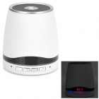 "IS-08 1"" LCD Bluetooth v3.0 2-Channel Speaker w/ Microphone - White + Black + Silver"