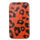 NEWTOP Stylish Crocodile Texture Protective PU Leather Case for Samsung I9086 - Orange + Black