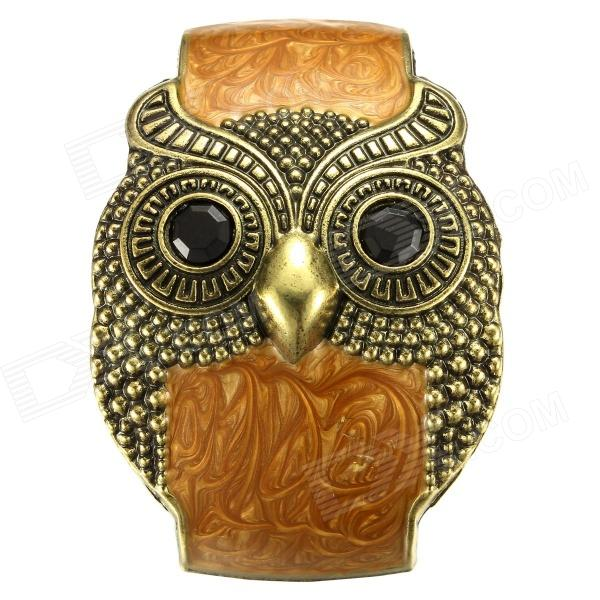 Фото - eQute BSSW110T2C9 50mm Vintage Wide Owl Zinc Alloy Women's Bracelet - Coffee + Bronze + Black equte fashion men s nature tiger eye agate chatoyancy big dragon pattern bead bracelet black