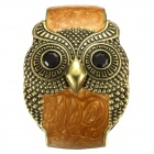 eQute BSSW110T2C9 50mm Vintage Wide Owl Zinc Alloy Women's Bracelet - Coffee + Bronze + Black